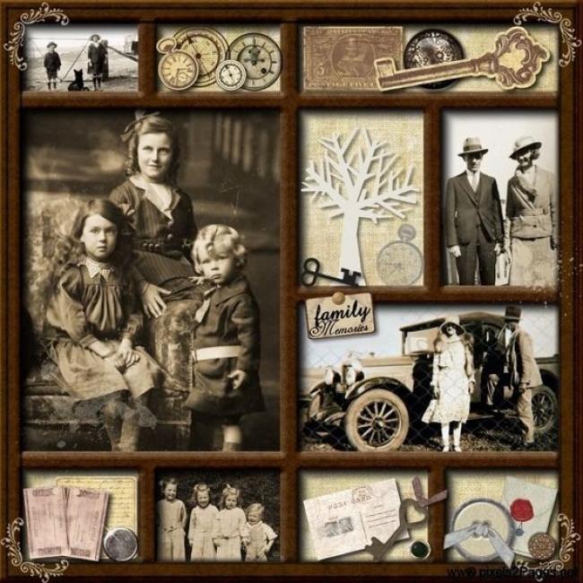 Plateau souvenir famille - Alzheimer
